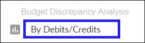 Run report by debits/credits instead
